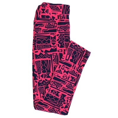 LuLaRoe One Size OS Geometric Buttery Soft Womens Leggings fit Adult sizes 2-10  OS-4370-AX-3