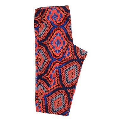 LuLaRoe One Size OS Snakeskin Afghan Weave Gods Eye 70s Trippy Psychedelic Buttery Soft Womens Leggings fit Adult sizes 2-10  OS-4350-BB
