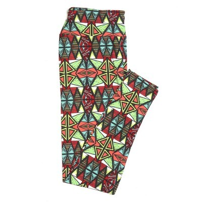 LuLaRoe One Size OS 70s South American Tribal Trippy Psychedelic Buttery Soft Womens Leggings fit Adult sizes 2-10  OS-4350-AA-2