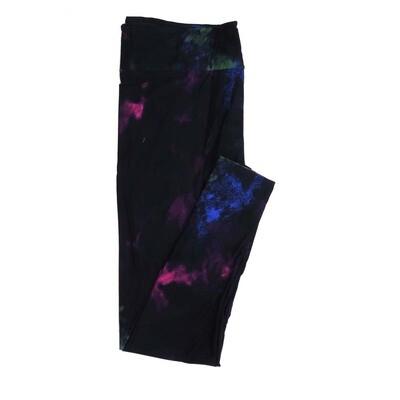 LuLaRoe Kids Small-Medium Dark Purple and Pruple Abstract Tye Dye Muted Buttery Soft Womens Leggings fits Kids sizes 2-6  SM-1331-10
