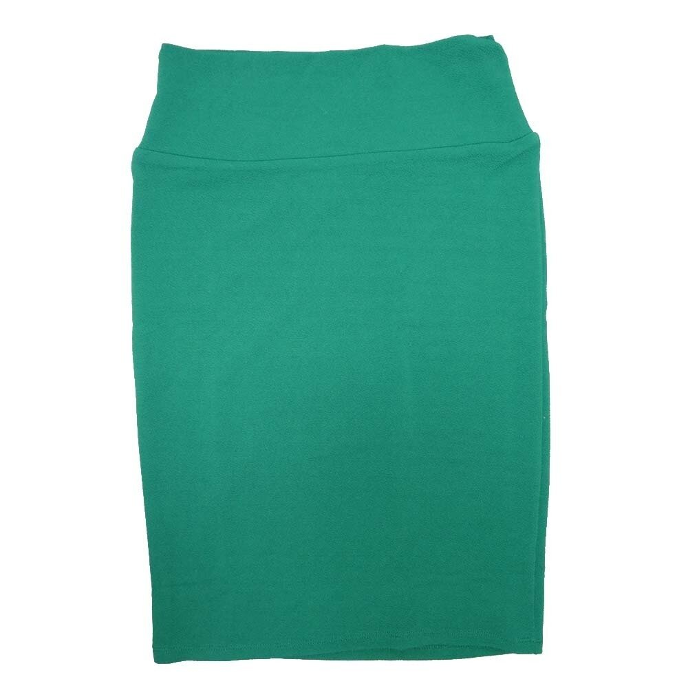 LuLaRoe Cassie Small S Solid Green Womens Knee Length Pencil Skirt fits sizes 6-8