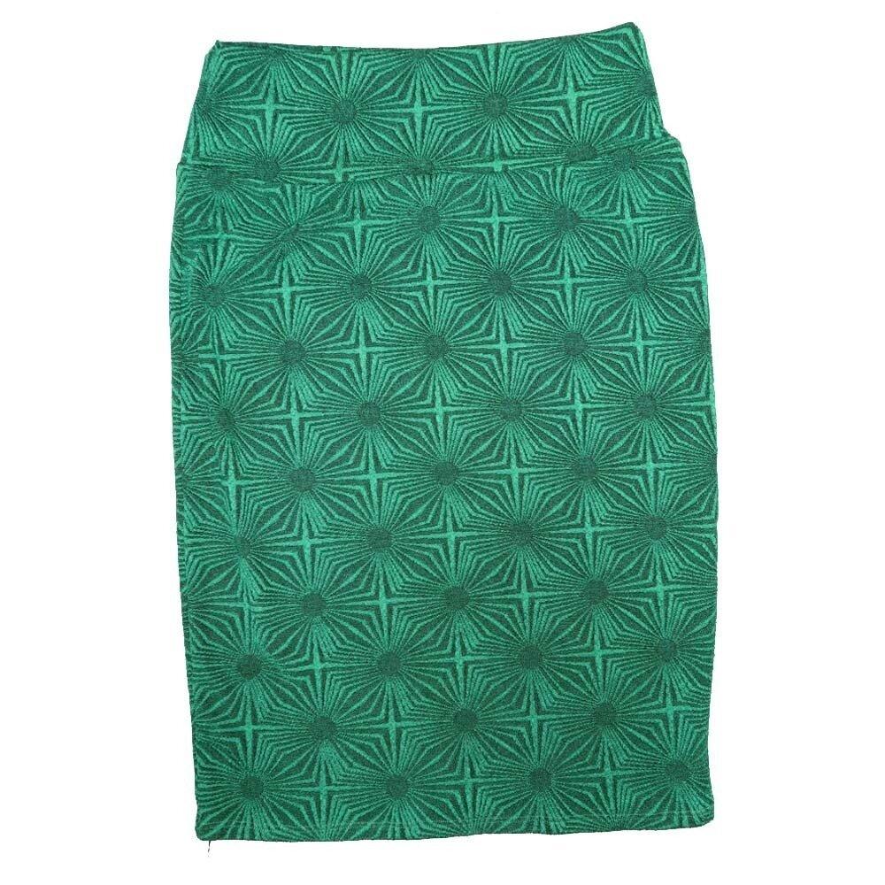 LuLaRoe Cassie Small S Green Polka Womens Knee Length Pencil Skirt fits sizes 6-8