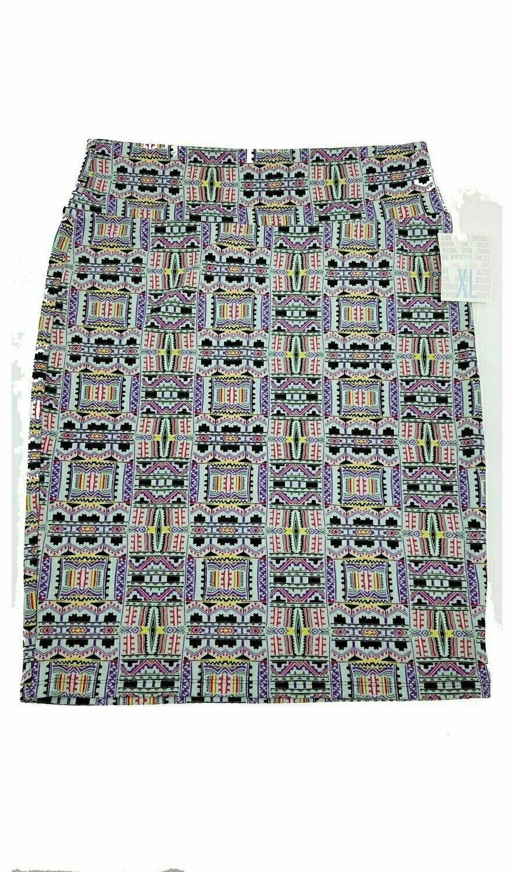 LuLaRoe Cassie X-Large XL Womens Knee Length Pencil Skirt fits sizes 18-20  XL52