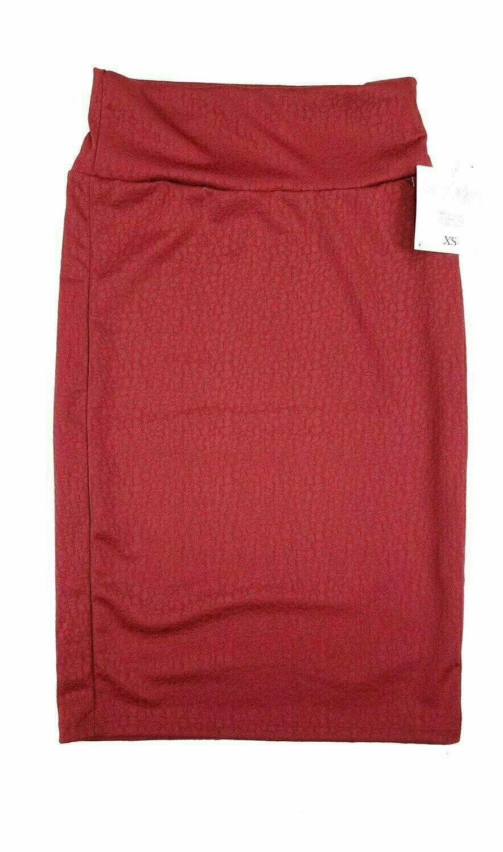 LuLaRoe Cassie X-Small XS Womens Knee Length Pencil Skirt fits sizes 2-4  XS51