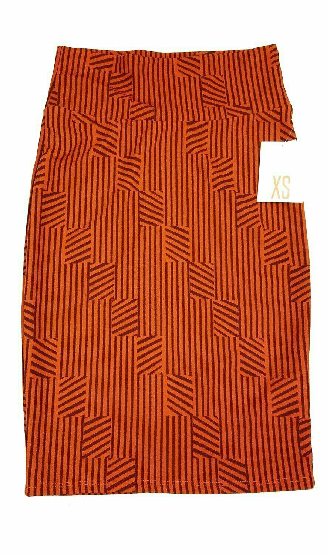 LuLaRoe Cassie X-Small XS Womens Knee Length Pencil Skirt fits sizes 2-4  XS56