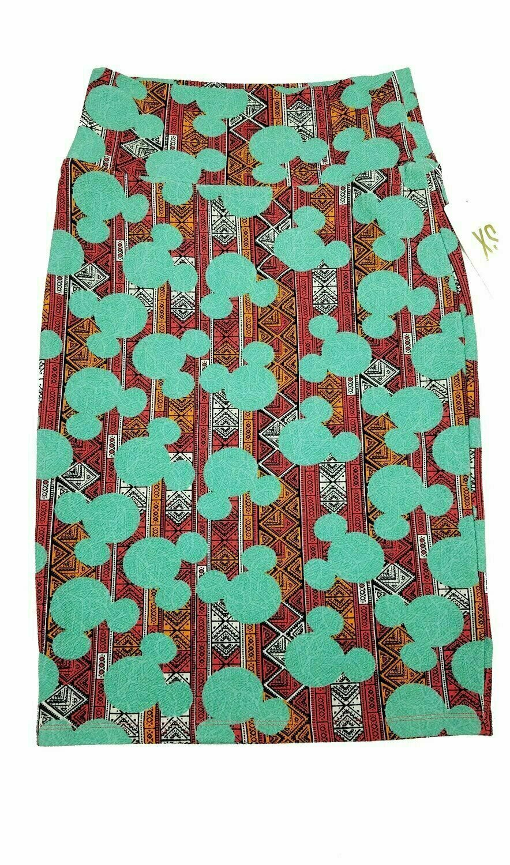LuLaRoe Cassie X-Small XS Womens Knee Length Pencil Skirt fits sizes 2-4  XS60