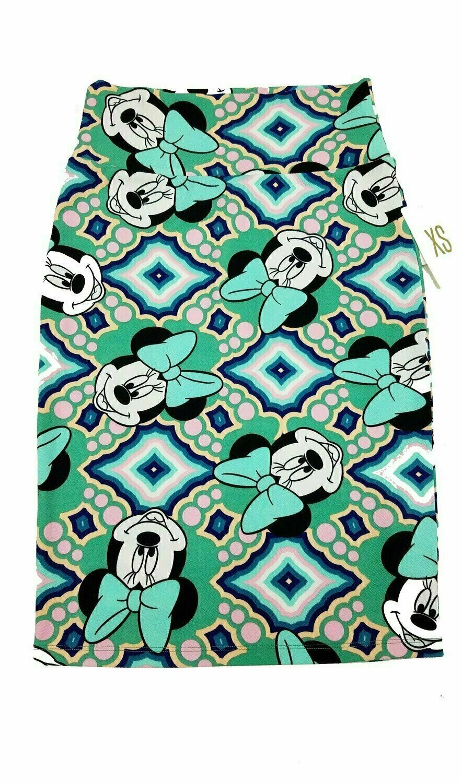 LuLaRoe Cassie X-Small XS Womens Knee Length Pencil Skirt fits sizes 2-4  XS61