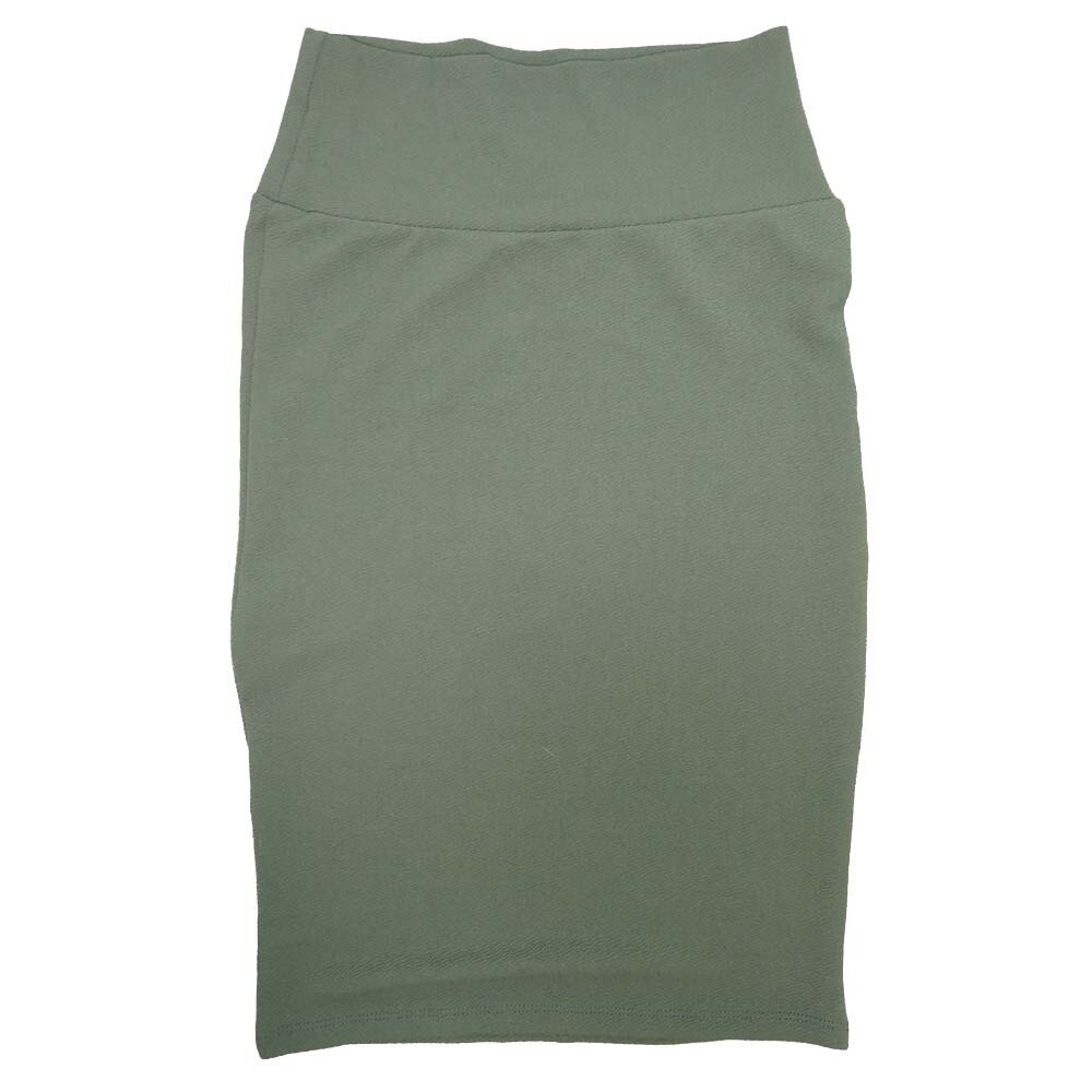 LuLaRoe Cassie X-Small XS Solid Gray-Green Womens Knee Length Pencil Skirt fits sizes 2-4