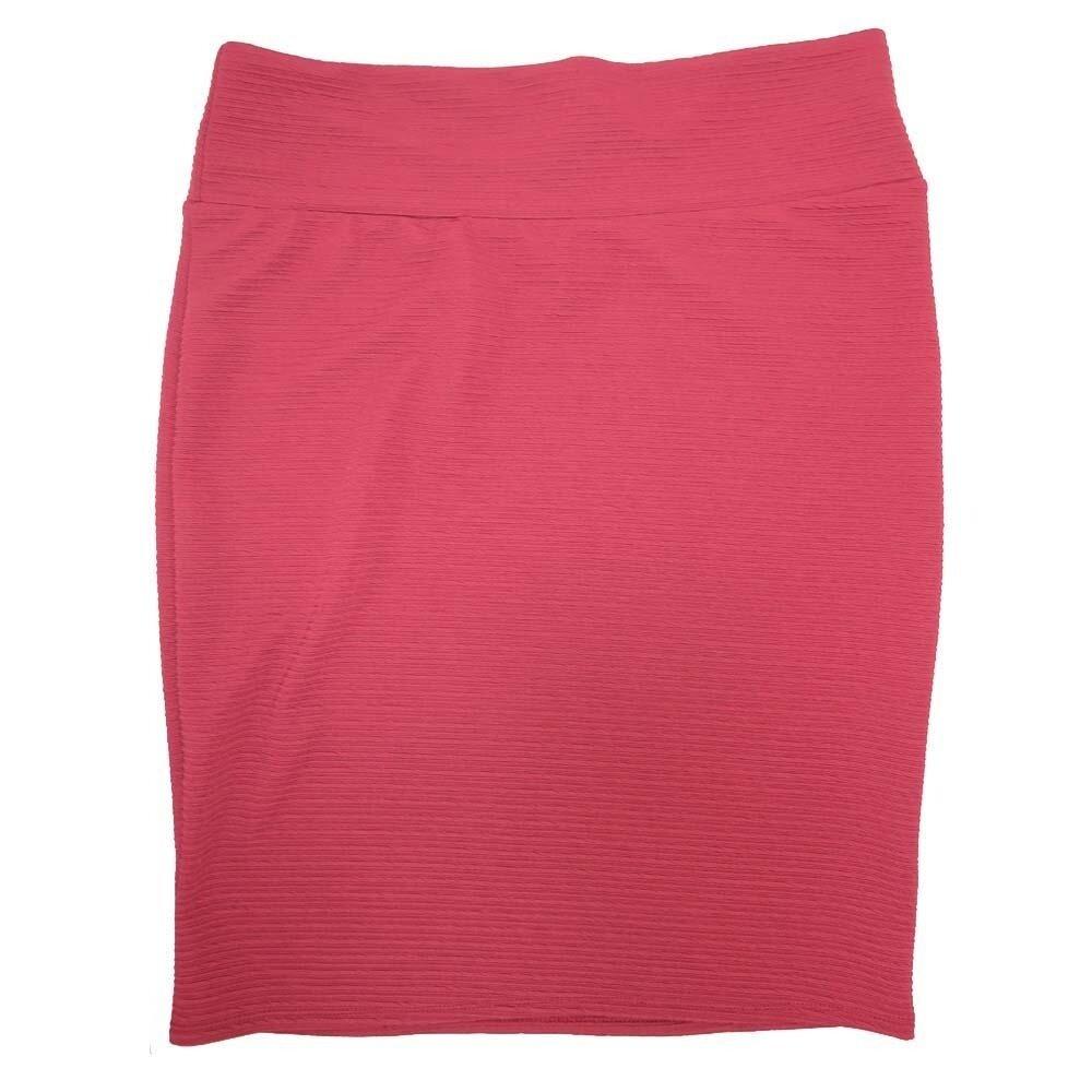LuLaRoe Cassie XXX-Large 3XL Solid Cranberry Womens Knee Length Pencil Skirt fits sizes 24-26