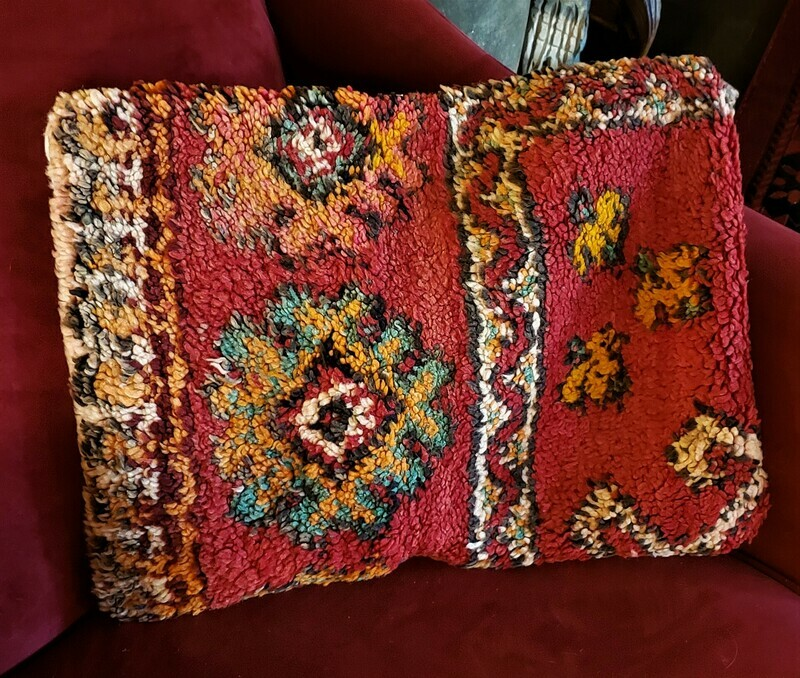Handmade Boujaad Berber Tribal Pillow Cover