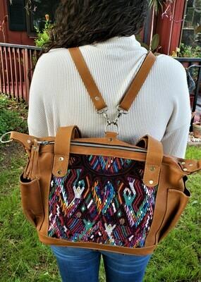 Handmade Guatemalan Backpack Shoulder Bag