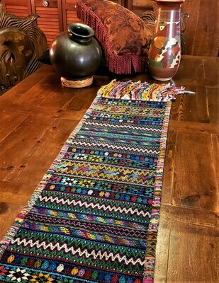 Colorful Handwoven Guatemalan Table Runner
