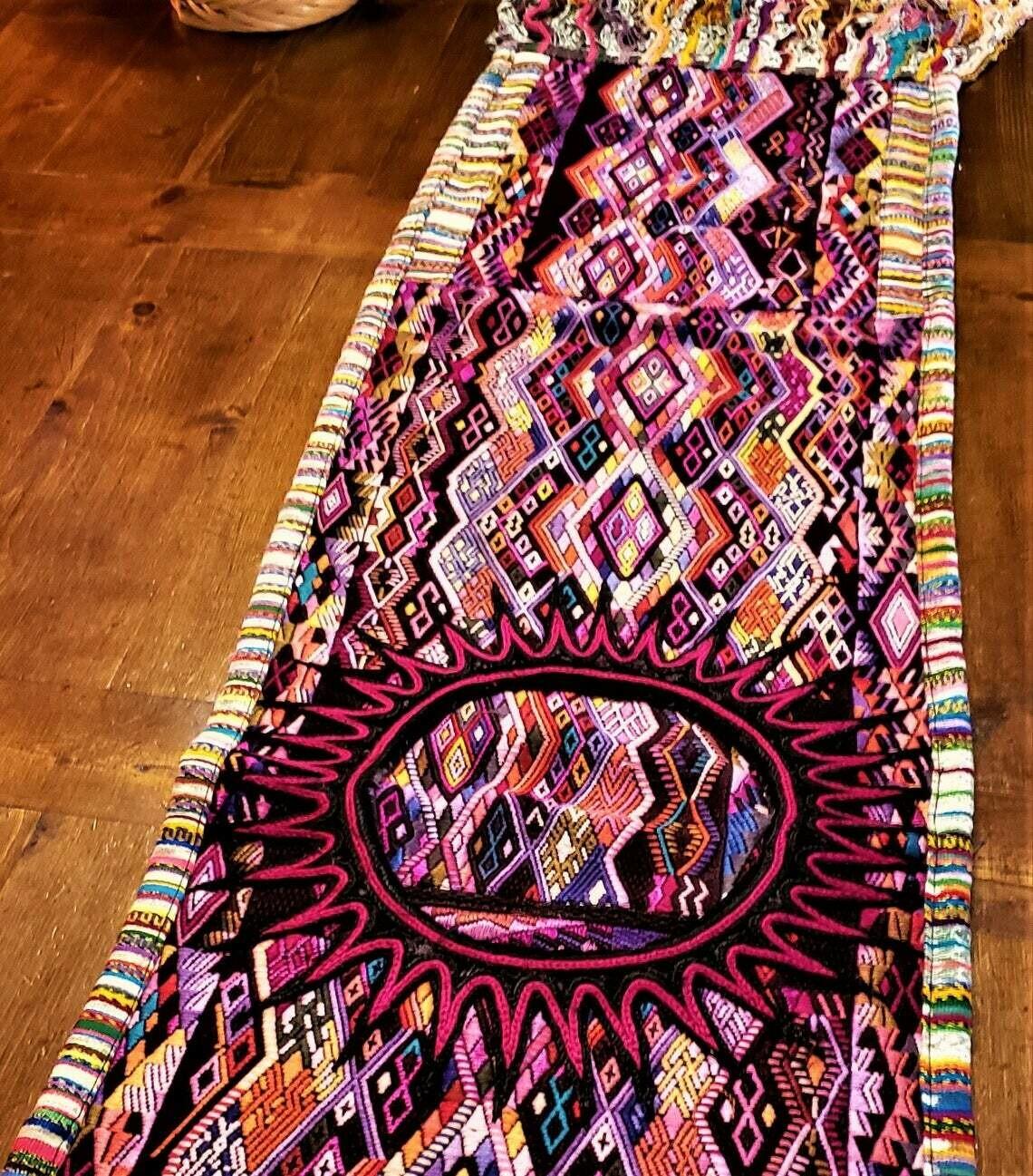 Colorful Guatemalan Huipile Table Runner