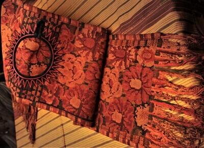 Handmade Guatemalan Table Runner - Terracotta