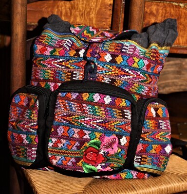 Hand Woven Day Bag Backpack from Guatemala