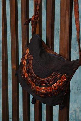 Brown Guatemalan Embroidered Shoulder Bag