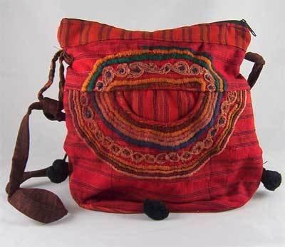 Red Guatemalan Embroidered Shoulder Bag