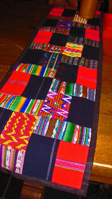 Guatemalan Puzzle Table Runner