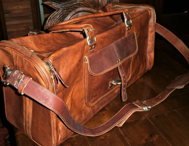 All Leather Weekender or Carry-on Bag