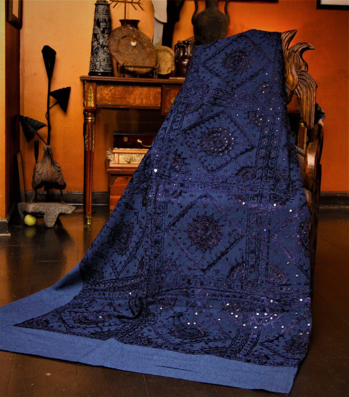 Queen Size Thar Desert Handmade Mirrored Bedspread Set