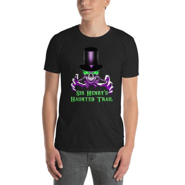 Sir Henry's Haunted Trail Logo Short-Sleeve Unisex T-Shirt