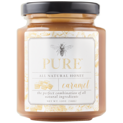 Caramel Honey Sauce  12oz (Pure Honey)