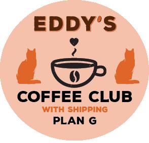 PLAN G: 1 Year Membership (SHIPPED) Coffee Club: 2 Bags of Coffee/Month