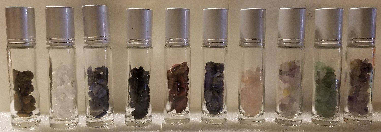 Gemstone infused essential oil roll on