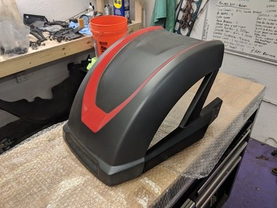 2018 Polaris Slingshot 265mm rear fender (grey with red accent)