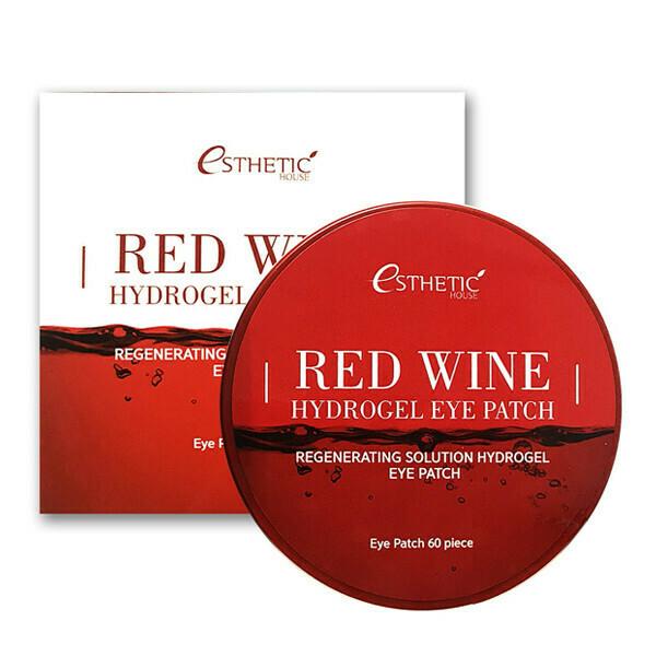 Омолаживающие патчи для глаз Esthetic House Red Wine Hydrogel Eye Patch
