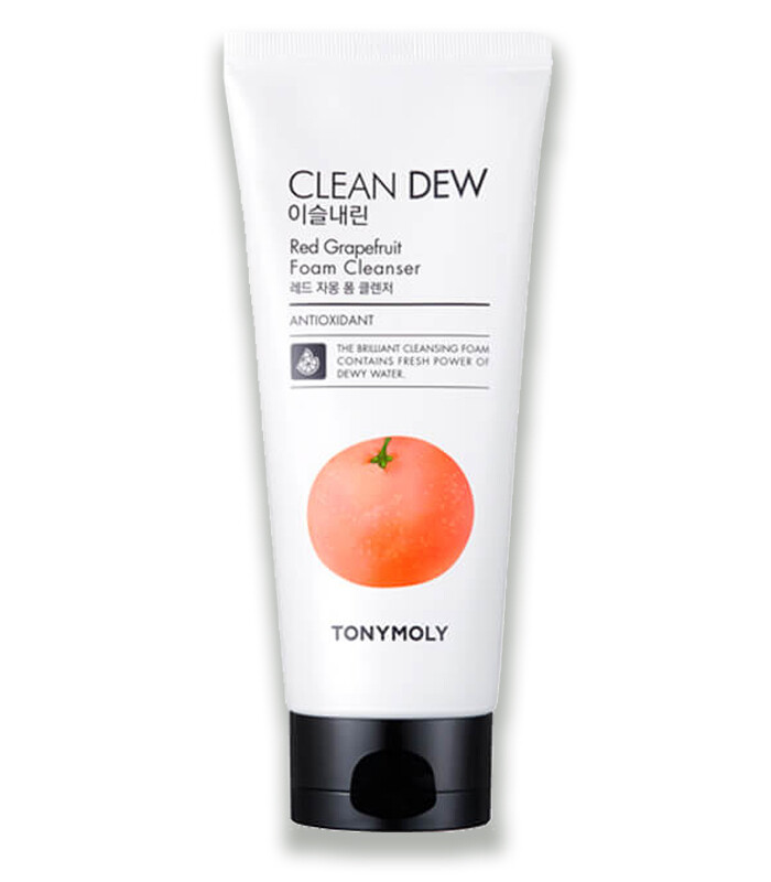 Tony moly Пенка для умывания CLEAN DEW (грейпфрут), 180мл