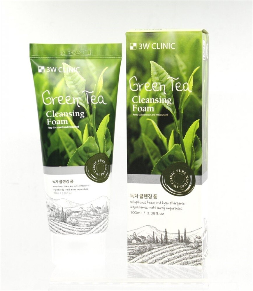Пенка для умывания с зеленым чаем 3W Clinic Green Tea Foam Cleansing
