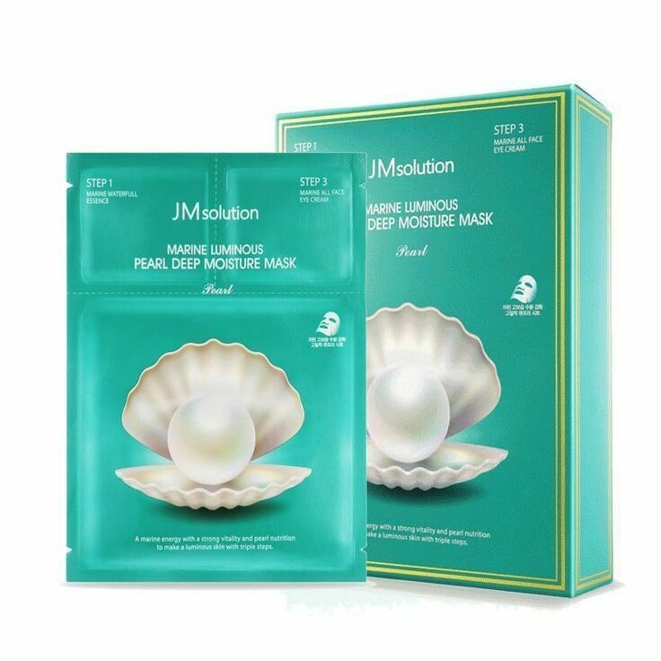 JMsolution Трёхшаговый увлажняющий набор с жемчугом  Marine Luminous Pearl Deep Moisture Mask