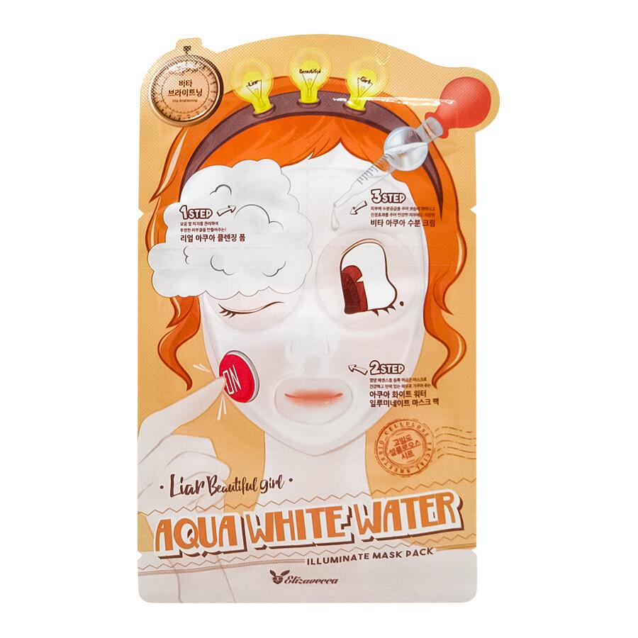 Elizavecca Трехшаговый осветляющий набор для лица  Aqua White Water Illuminate Mask Pack