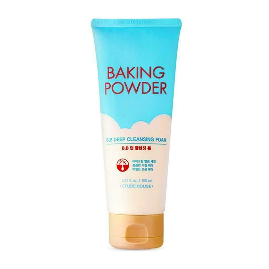 Глубоко очищающая пенка с содой для снятия макияжа и ВВ крема Etude House Baking Powder BB Deep Cleansing Foam (160 мл)