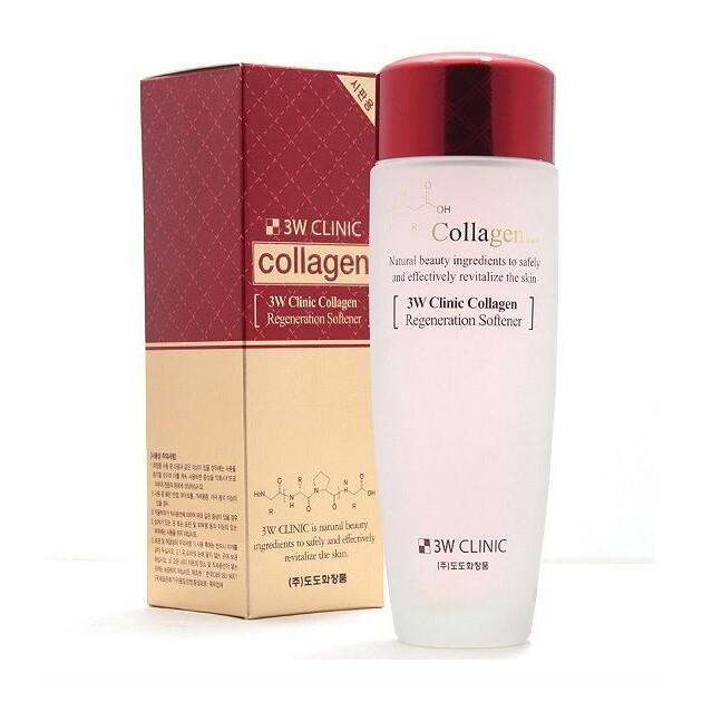 Восстанавливающий тонер для лица с коллагеном 3W Clinic Collagen Regeneration Softener 150 мл