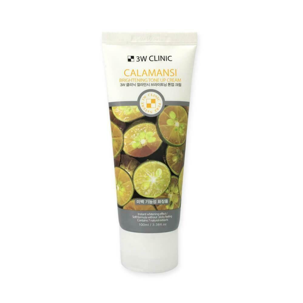 Осветляющий крем для улучшения тона кожи лица с экстрактом каламондина 3W Clinic Calamansi Brightening Tone Up Cream 100 мл