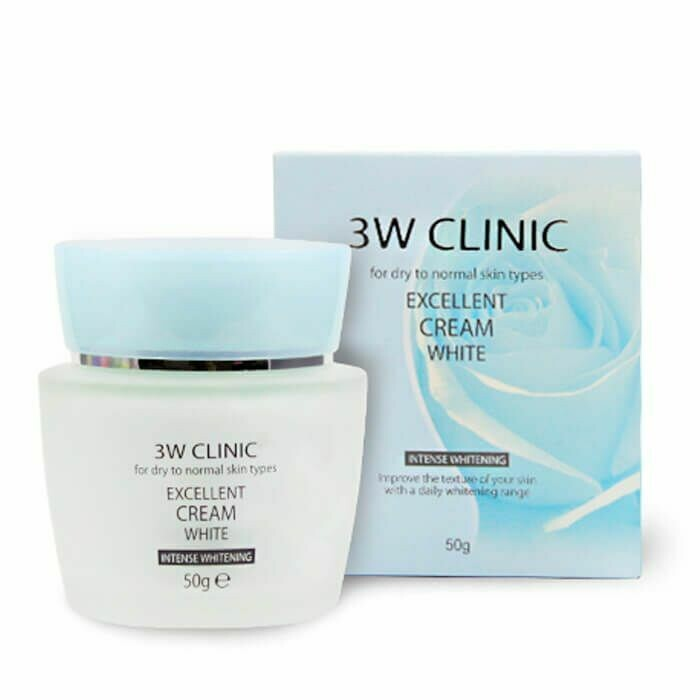 3W Clinic Осветляющий крем для лица с растительными экстрактами Excellent White Cream