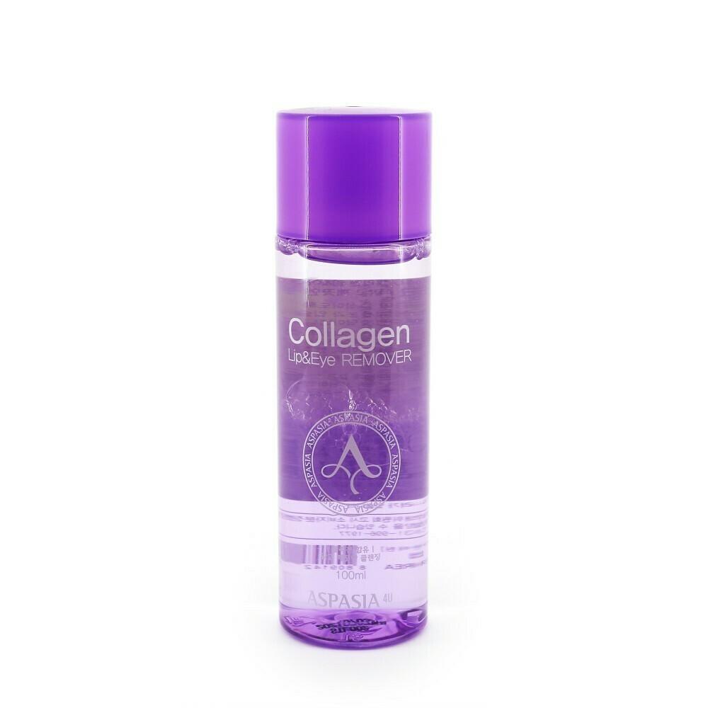 Aspasia Двухфазное средство для удаления макияжа глаз и губ Collagen Lip&Eye Makeup Remover