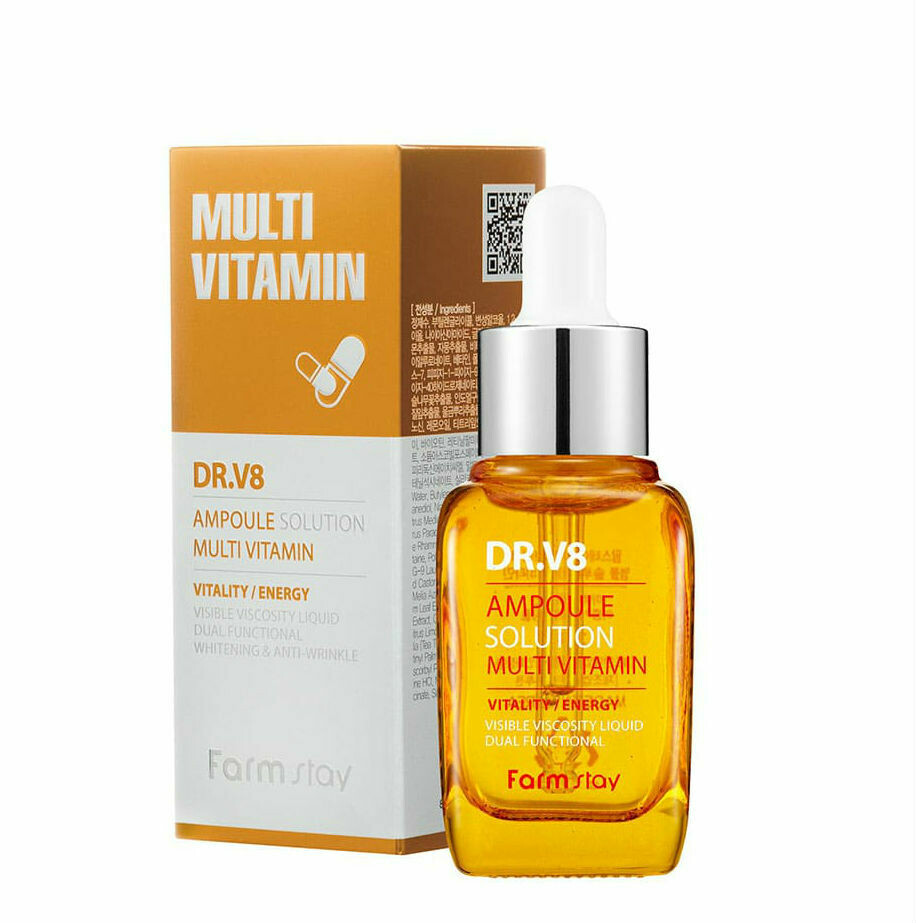 Ампульная мульти витаминная сыворотка Farm Stay DR.V8 Ampoule Solution Multi Vitamin 30 мл