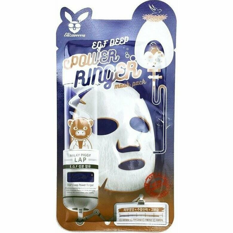Тканевая маска Elizavecca EGF Deep Power Ringer Mask Pack 23 мл