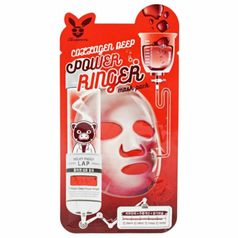 Тканевая маска Elizavecca Collagen Deep Power Ringer Mask Pack 23 мл