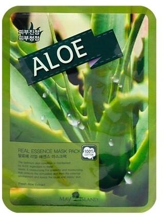 Тканевая маска для лица с алоэ May Island Real Essence Aloe Mask Pack 25 мл