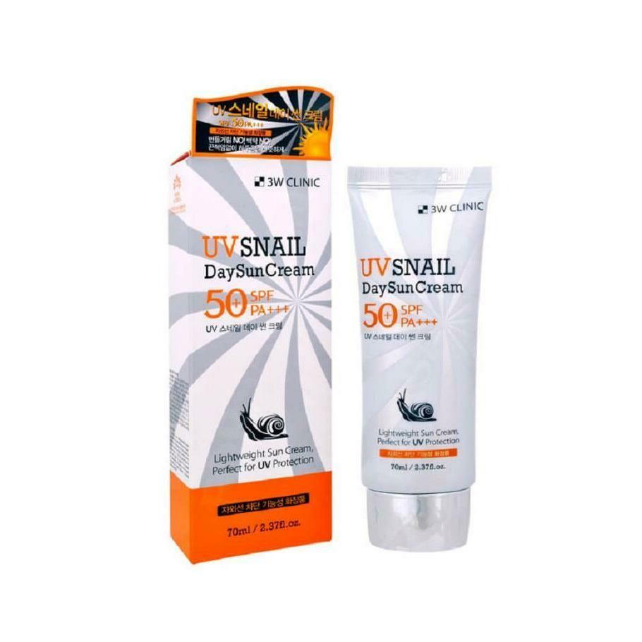 Солнцезащитный крем 3W Clinic UV Snail Day Sun Cream 70 мл