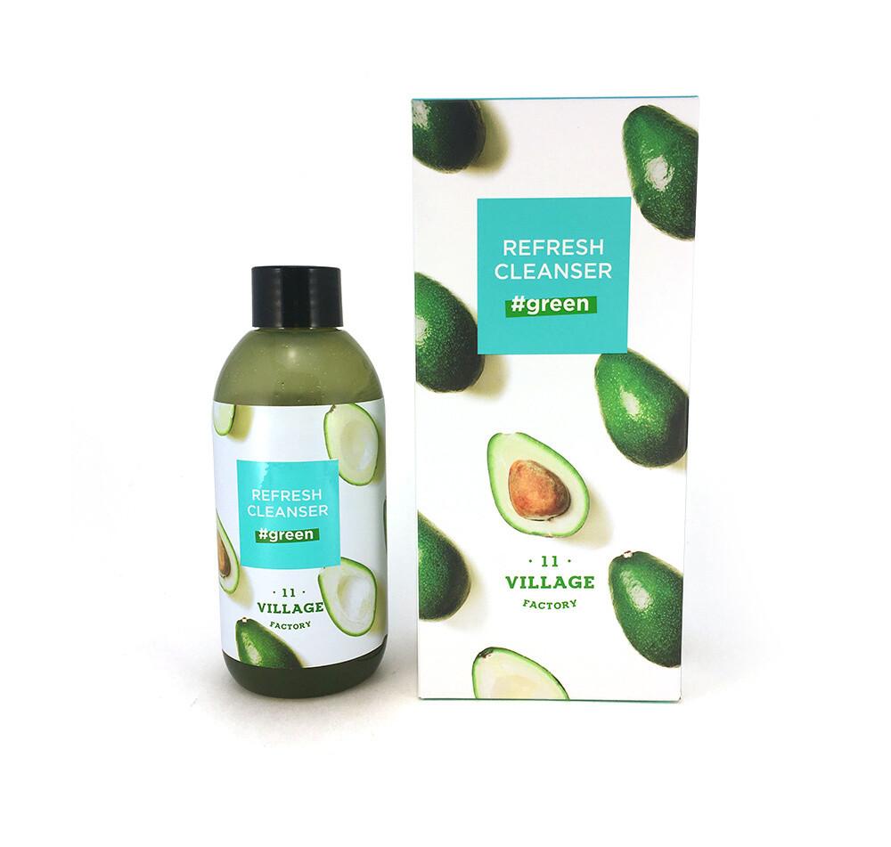 Освежающая пенка-скраб для умывания с авокадо Village 11 Factory Refresh Cleanser Green 185 мл