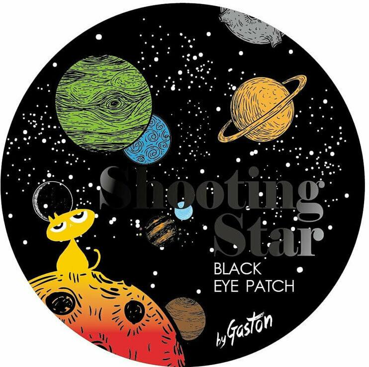 Gaston Shooting Star Crystal Eye Gel Patch Black Тающие чёрные гидрогелевые патчи для осветления кожи вокруг глаз
