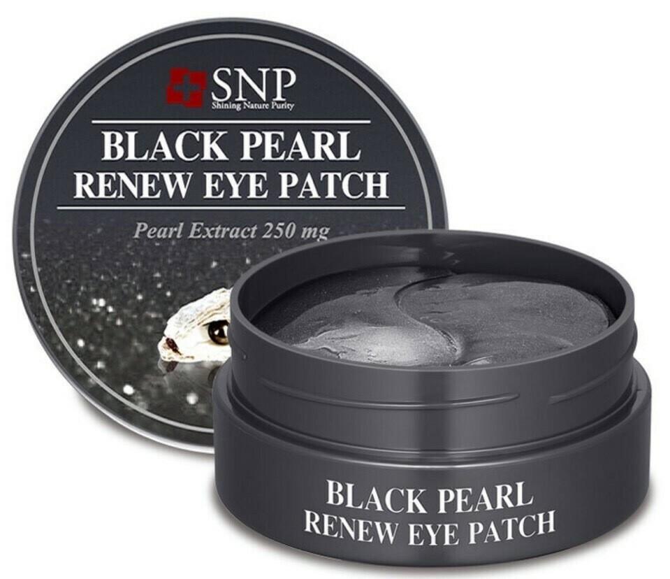 Патчи для век SNP Black Pearl Renew Eye Patch
