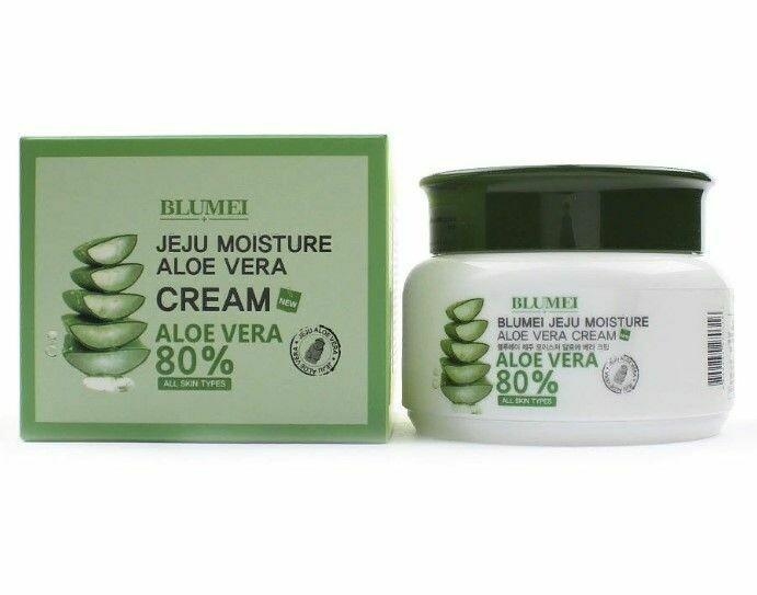 Крем для лица с Алоэ Blumei Jeju Moisture Aloe Vera 80% Cream 100 мл