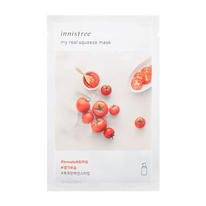 ​Innisfree Тканевая маска для лица с экстрактом томата My Real Squeeze Mask Tomato 20 мл