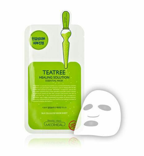 Маска-салфетка для лица с экстрактом чайного дерева Essential Mask EX. TEATREE Care Solution MEDIHEAL 24 мл